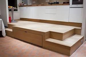 Estrade et lit fredfabric astuces gain de place for Idee deco cuisine avec lit escamotable
