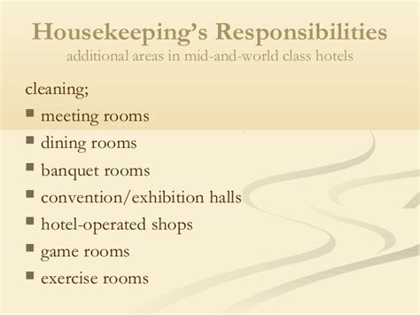 hotel front desk meeting topics housekeeping department of hotel
