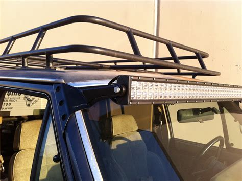 xj led light bar bracket kit 84 01 jeep xj omc offroad