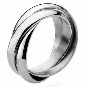 Stainless steel russian wedding ring 4mm bands for Russian wedding rings for sale