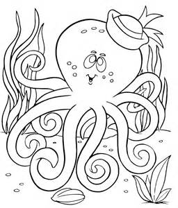 Free Octopus Coloring Page