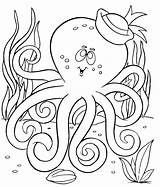 Octopus Coloring Pages Printable Preschool Colouring Worksheets Kindergarten Enjoyable Homework Includes Section Every Age sketch template