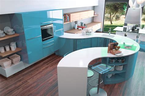awesome cuisine mur bleu turquoise contemporary matkin