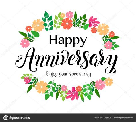Happy Anniversary by Happy Anniversary Lettering Stock Vector 169 Tiny