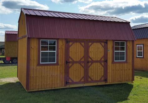 Grandview Buildings 10x16 Side Lofted Barn. Red Metal Roof
