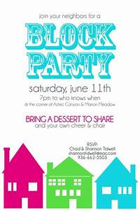 block party invitation two peas in a bucket cute With block party template flyers free
