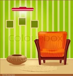 Zimmertür Mit Rahmen : vector zimmer mit gr nen tapeten und eine gestreifte sessel einen rahmen f r die wand und lampe ~ Sanjose-hotels-ca.com Haus und Dekorationen