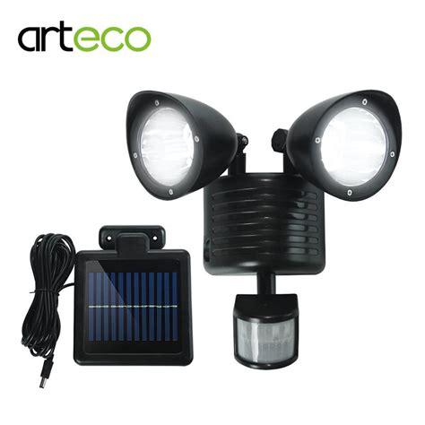 best security light with motion sensor aliexpress com buy led solar light 22leds dual head pir