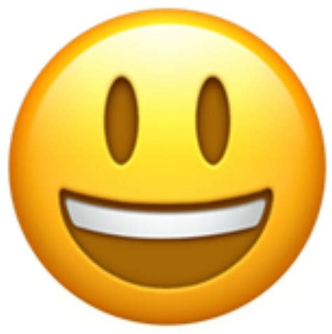classic smiley face emoji   open mouth showing