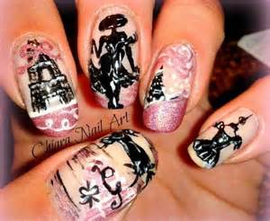 Nails art paris design vintage wardrobe malia thompson