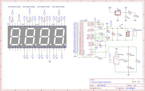 Simple Digital Voltmeter Circuit Diagram Using Icl