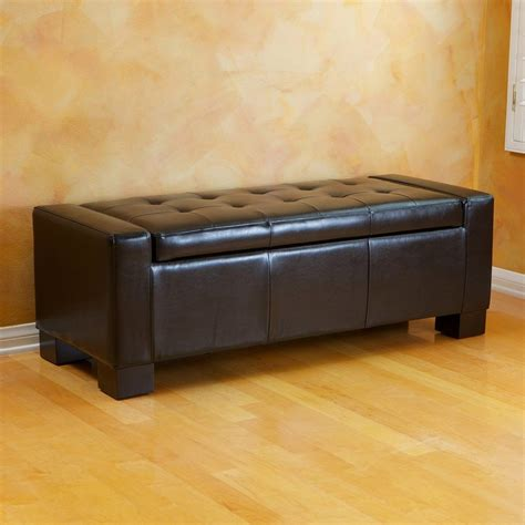 use of ottoman shop best selling home decor guernsey black faux leather ottoman at lowes com