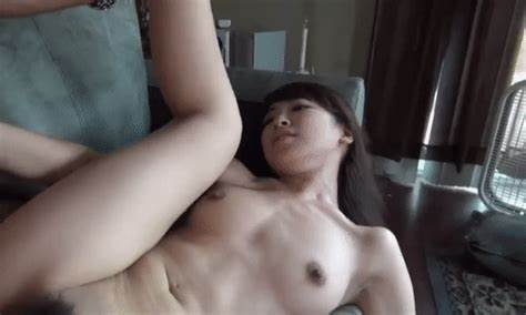 Adorable And Svelte Black Hair Student Handjob A Large Cock