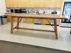 custom bar height harvest table by custom made furniture With counter height harvest table