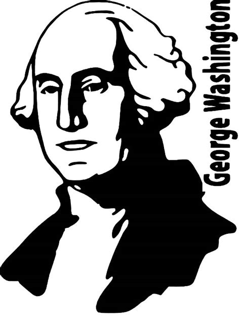 president george washington coloring pages   print