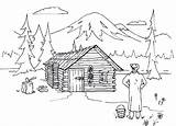 Cabin Coloring Pages Log Lake Cabins Woods Adult Lincoln Sketch Panda Colouring Houses Wood Abe Template Books Xyz Logs Patrol sketch template