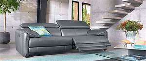canapes relax 3 4 ou 5 places en cuir cuir center With canapé 3 places cuir center