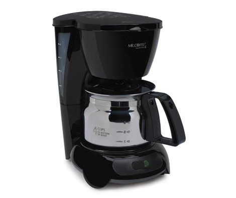 coffee maker with stainless carafe coffee consumers mr coffee 4 cup coffee maker with 8241