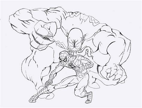 Spiderman Vs Venom Coloring Pages - Democraciaejustica