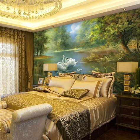 beautiful forest mural wallpaper bedroom background
