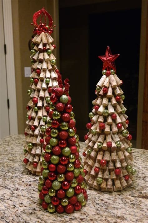 creative christmas decorations   budget wine cork