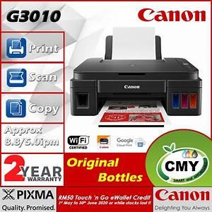 Canon Pixma G3010 Refillable Ink Tank Wireless Printer