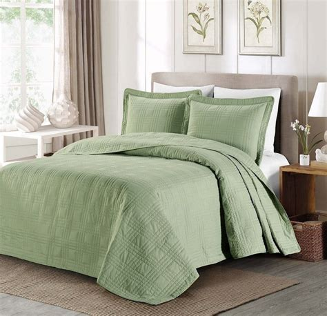 Oversized Coverlets by New Cal King Oversized Bedspread Coverlet Quilt 3 Pc