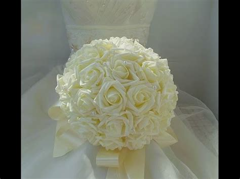 diy cheap wedding brooch bouquet real touch roses part
