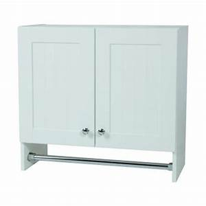 Glacier bay 27 in x 25 in x 12 in laundry wall cabinet for White laundry room cabinets home depot