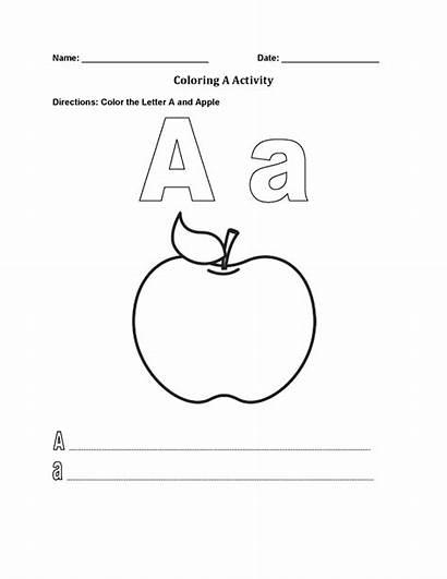 Alphabet Coloring Pages Worksheet Letter Worksheets Englishlinx