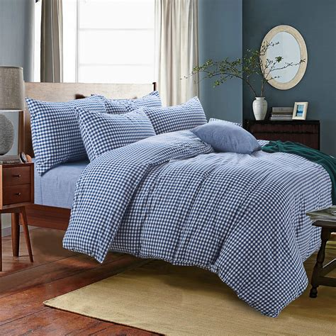 high quality duvet covers high quality 100 washed cotton plaid duvet covers