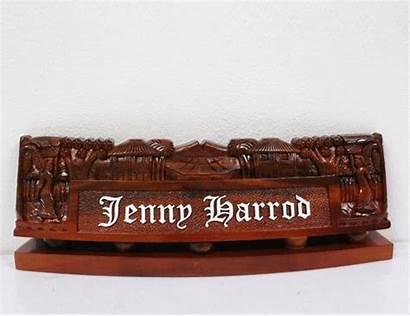 Desk Military Wood Plates Nameplate Nameplates