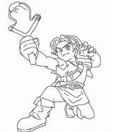 Slingshot Link Young Bunyip Deviantart Boy sketch template