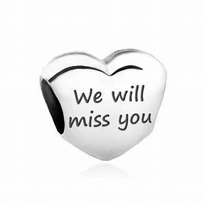 We Will Miss You : pandora love heart charm 790137 engraved with 39 we will miss you 39 john greed jewellery ~ Orissabook.com Haus und Dekorationen