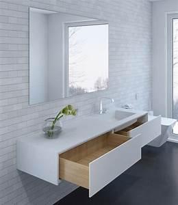 Waschtisch Holz Modern : moderner waschtisch wei corian und holz modern badezimmer dortmund von henneke ~ Sanjose-hotels-ca.com Haus und Dekorationen