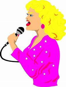 Lady Singer Clipart - Clipart Suggest