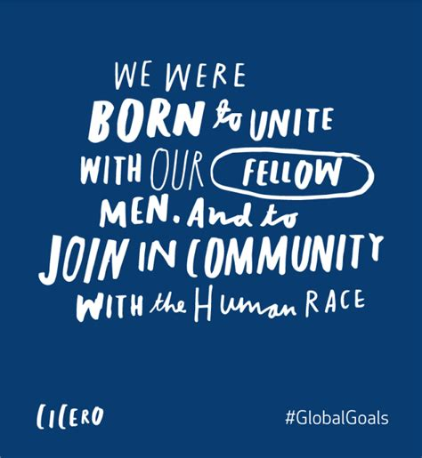 Partnerships For The Future Cicero Quote  Global Goals
