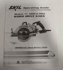 Skil Operating Guide Manual Instruction 77 5825 5865 Worm