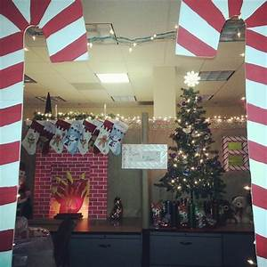Best cubicle christmas office decorating contest