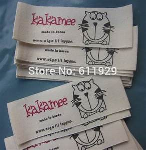 cotton fabric labels custom clothing tags clothes label With fabric tag printing