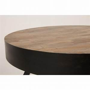 Table Basse Ronde Industrielle : table basse ronde 74 cm en teck recycl suri large ~ Teatrodelosmanantiales.com Idées de Décoration