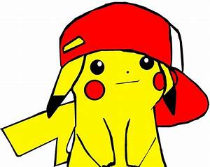 Pikachu with original Ash hat by mylife42 on DeviantArt