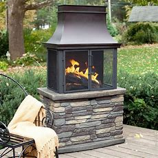 Bond Wood Burning Outdoor Fireplace At Hayneedle