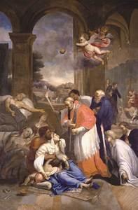 Saint Charles Borrom U00e9e Administrant La Communion Aux