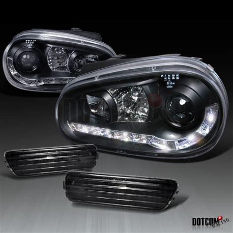 black 99 05 vw golf gti mk4 r8 led projector