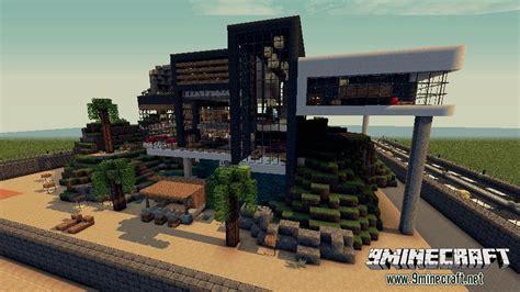 Modernes Haus Minecraft Command by Luxurious Modern House 2 Map 9minecraft Net