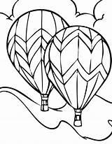 Balloon Coloring Air Printable Balloons A4 sketch template