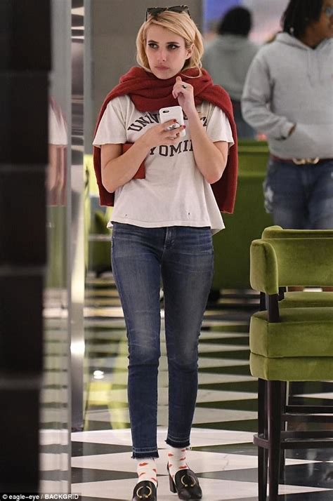 Emma Roberts shops in luxury stores in Beverly Hills ...