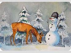 Morgen kommt der Weihnachtsmann © Aquarell von Frank