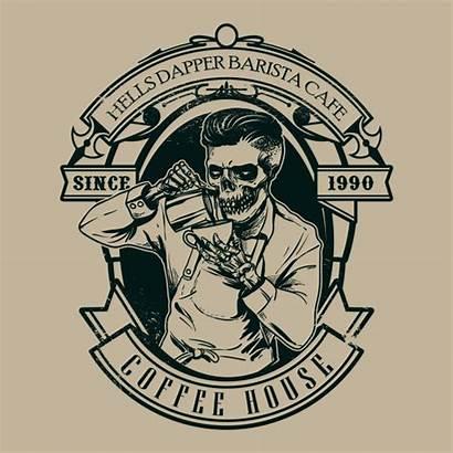 Hipster Barista Freepik Skull Premium Caveira Calavera